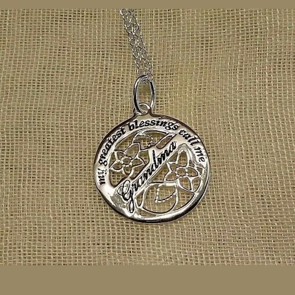 Avon jewelry sterling silver grandma pendant necklace poshmark avon sterling silver grandma pendant necklace aloadofball Image collections